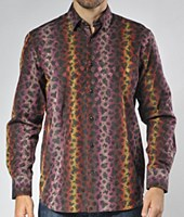 Luchiano Visconti Limited Edition Paisley Long Sleeve Sport Shirt
