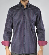 Luchiano Visconti Limited Edition Colour Block Long Sleeve Sport Shirt