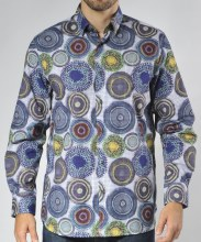 Luchiano Visconti Limited Edition Bullseye Long Sleeve Sport Shirt