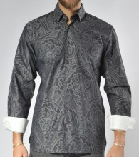 Luchiano Visconti Limited Edition Abstract Long Sleeve Sport Shirt