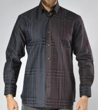Luchiano Visconti Limited Edition Plaid Long Sleeve Sport Shirt