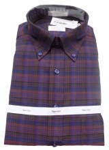 Cooper and Stewart Traditional Plaid No Iron Long Sleeve Sport Shirt