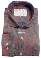 7 Downie Street London Paisley Long Sleeve Sport Shirt