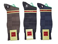 Vannucci King Size Check Patterned Sock