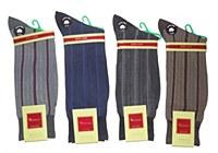 Vannucci King Size Vertical Stripe Socks