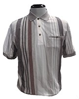 Banded Bottom Shrt Co. Vertical Stripe Polo