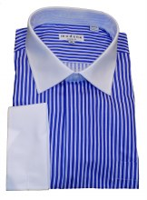 Summerfields Striped French Cuff Dress Shirt