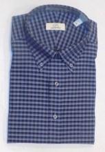 Cooper & Stewart Blue Mini Check Long Sleeve Sport Shirt