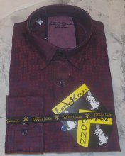 2205Ink Window Pane Long Sleeve Sport Shirt
