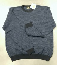 2205 Ink Navy Geometric Sweater