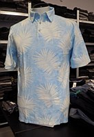 Pete Huntington Blue Fern Cotton Polo