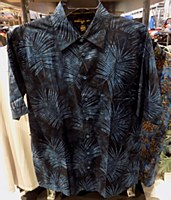 Pete Huntington Black Fern Short Sleeve Casual Shirt