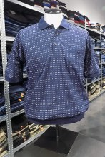 Banded Bottom Shirt Co. Multi Tick Polo