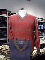 FX Fusion Windowpane V-Neck Sweater