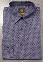 FX Fusion Navy Geo Long Sleeve Sport Shirt