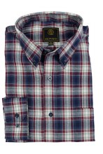FX Fusion Mulberry Madras Long Sleeve Sport Shirt