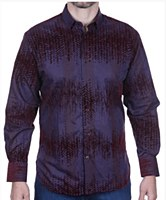 Luchiano Visconti Sangria Long Sleeve Sport Shirt