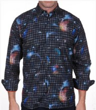 Luchiano Visconti Celestial Long Sleeve Sport Shirt
