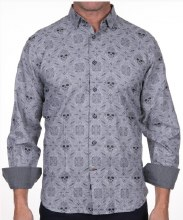 Luchiano Visconti Cranio Long Sleeve Sport Shirt