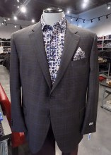 Peter Millar Grey Pane Sport Coat