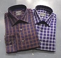 Summerfields Quad Windowpane Long Sleeve Dress Shirt