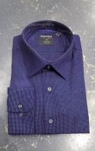 Summerfields Micro Check Long Sleeve Dress Shirt