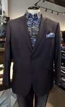 Jean Paul Germain Navy Check Sport Coat