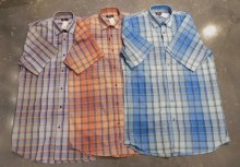 Jon Randall Dobby Check Plaid Long Sleeve Summer Shirt