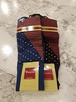 Vannucci Stripe Mercerized Cotton Sock