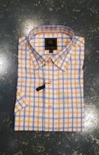 FX Fusion Orange/Blue Check Short Sleeve Shirt