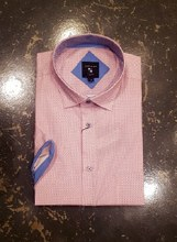 Big & Tall Milano Micro Short Sleeve Sport Shirt
