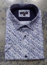 Black Ice Floral Short Sleeve Shirt