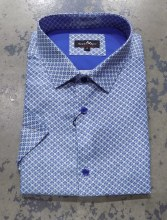 Black Ice Tile Print Short Sleeve Shirt