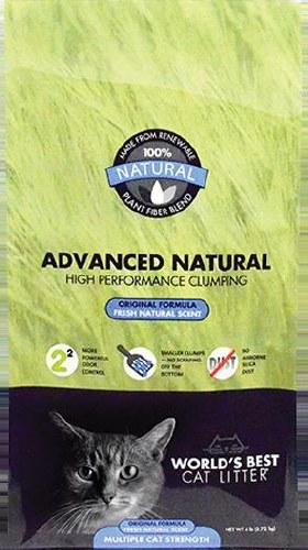World's Best Cat Litter Advanced Natural Original Formula 6-lb bag