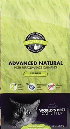 World's Best Cat Litter Advanced Natural Pine Blend Clumping Formula 12-lb bag