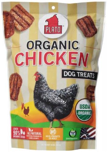 Plato Organic Chicken Dog Treats- 6oz