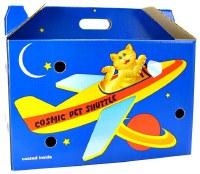 Cosmic Cardboard Pet Shuttle