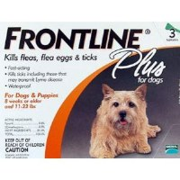 Frontline Plus for Dogs & Puppies 8 weeks or Older and 11-22lbs