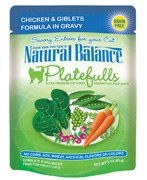 Natural Balance 3oz Platefulls Chicken & Giblets Formula in Gravy Case
