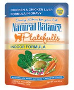 Natural Balance 3oz Platefulls Indoor Chicken & Chicken Liver Formula in Gravy Pouch