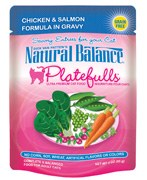 Natural Balance 3oz Platefulls Chicken & Salmon Formula in Gravy Pouch