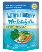 Natural Balance 3oz Platefulls Indoor Mackerel & Sardine Formula in Gravy Pouch