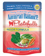 Natural Balance 3oz Platefulls Indoor Salmon,Tuna,Chicken & Shrimp Formula in Gravy Pouch
