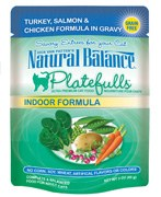 Natural Balance 3oz Platefulls Indoor Turkey,Salmon & Chicken Formula in Gravy Case