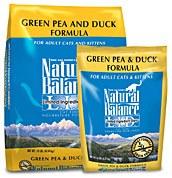 Natural Balance 10lbs Green Pea & Duck Dry Cat Food