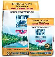 Natural Balance 12.5lbs Small Breed Bites Potato & Duck Formula Dry Dog Food