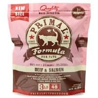 Primal Feline Raw Frozen Beef & Salmon Formula 3lbs