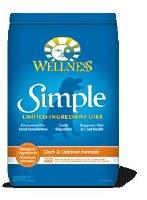 Wellness 10lbs Simple Duck and Oatmeal Canine Formula Dry Food