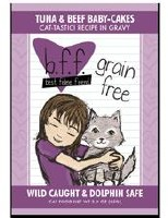 Best Feline Friend 3oz Tuna & Beef Baby Cakes Recipe (in Gravy) Pouch