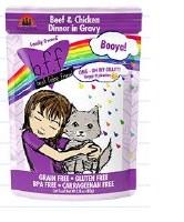 Best Feline Friend 2.8oz Beef & Chicken Dinner Booya! (in Gravy) Case